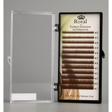 Royal Eyebrow Extensions Mix 0.10mm - Maro deschis