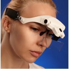 Ochelari lupa cu iluminare LED