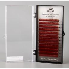 Extensii gene Royal Premium Silk Mix C015 Maron roscat
